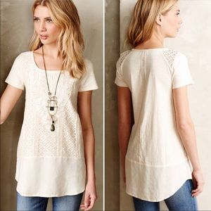 ANTHRO (Meadow Rue) laurel lace tunic